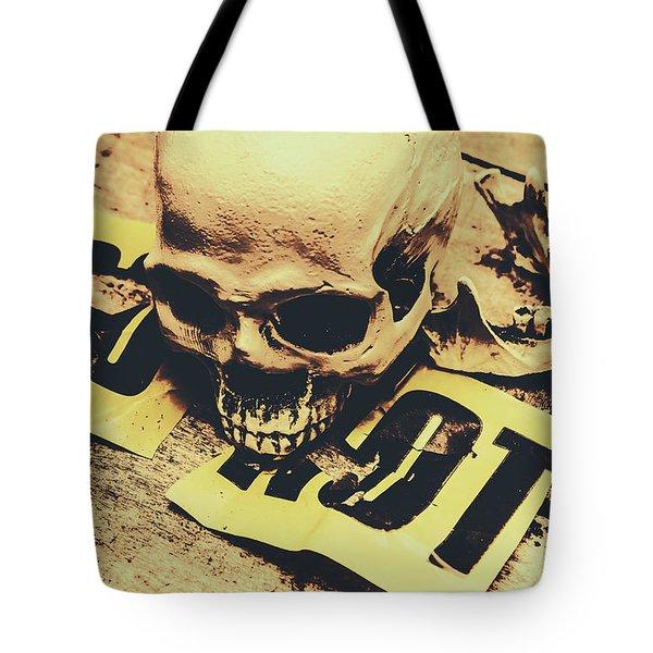 Scary Human Skull Tote Bag