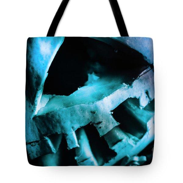 Scary Jack-o-lantern Pumpkin Detail Tote Bag