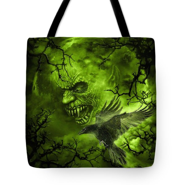 Scary Moon Tote Bag