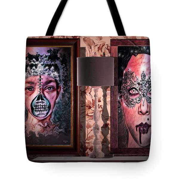 Scary Museum Wallart Tote Bag