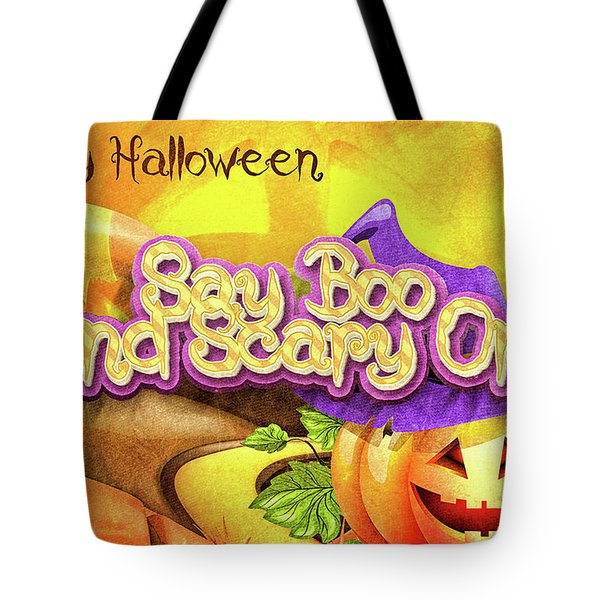 Tote Bag featuring the digital art Scary On by Mo T