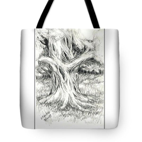 Scary Tree Tote Bag by Ruth Renshaw