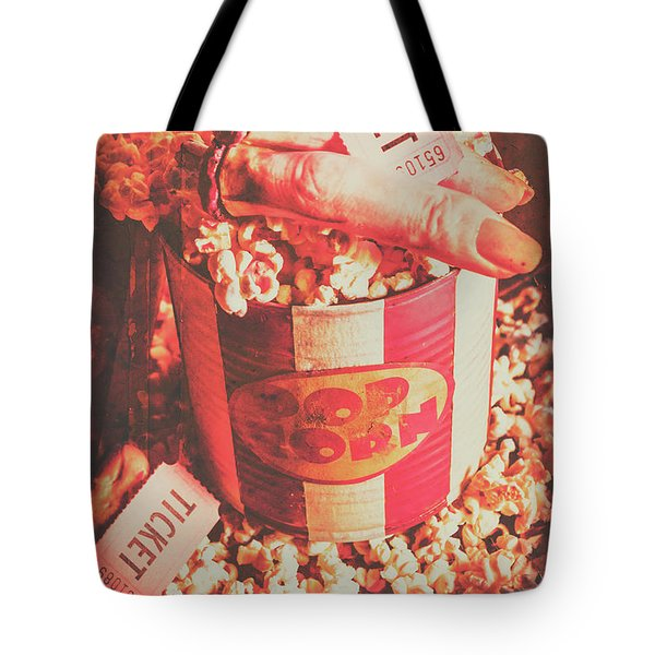 Scary Vintage B-grade Horror Movies Tote Bag
