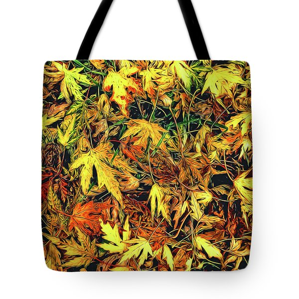 Scattered Autumn Leaves Tote Bag