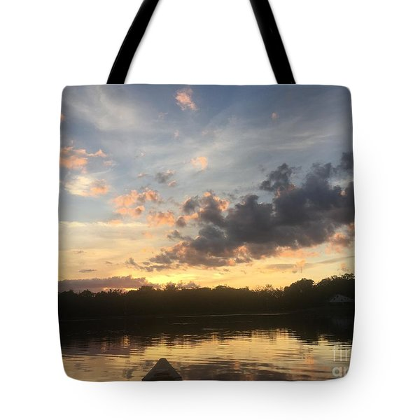 Scattered Sunset Clouds Tote Bag