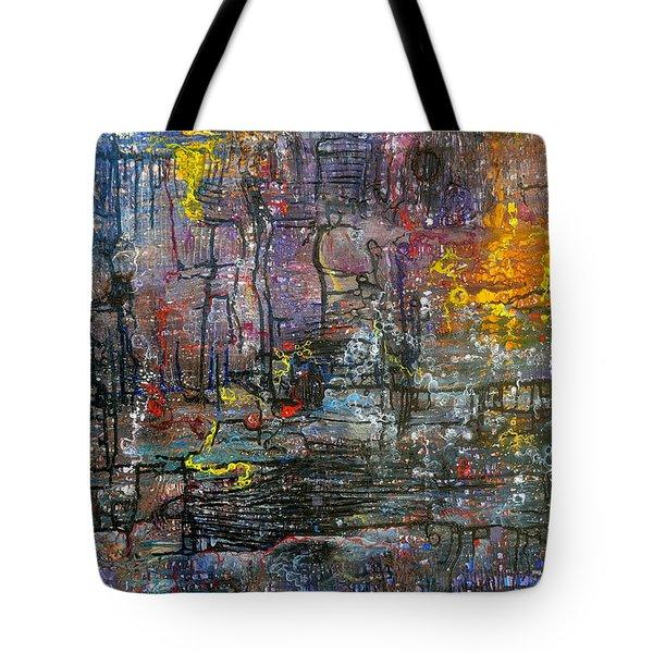 Schematics Of The Arcane Tote Bag by Regina Valluzzi