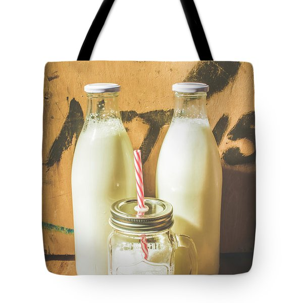Scene From A Vintage Milk Bar Tote Bag