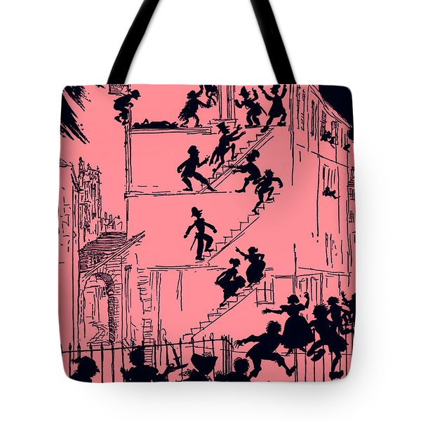 Scene From Murder In The Rue Morgue By Edgar Allan Poe Tote Bag