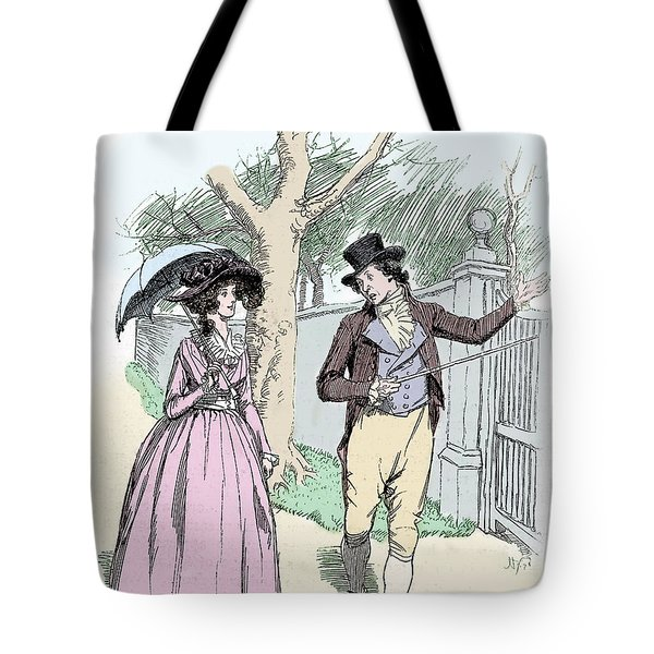 Scene From Sense And Sensibility By Jane Austen Tote Bag