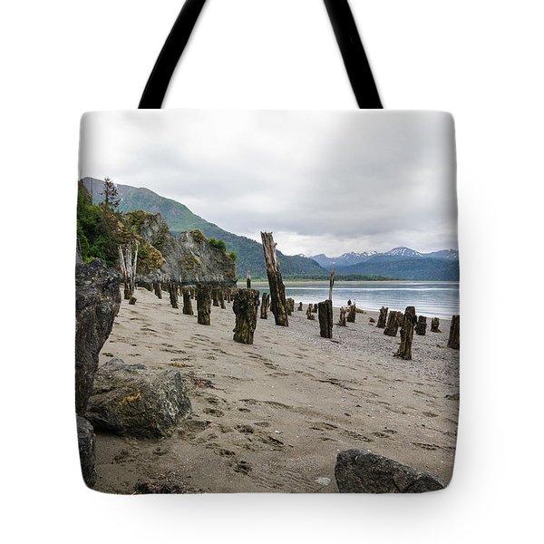 Scene In Halibut Cove Tote Bag