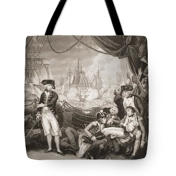 Scene On The Deck Of The Queen Tote Bag