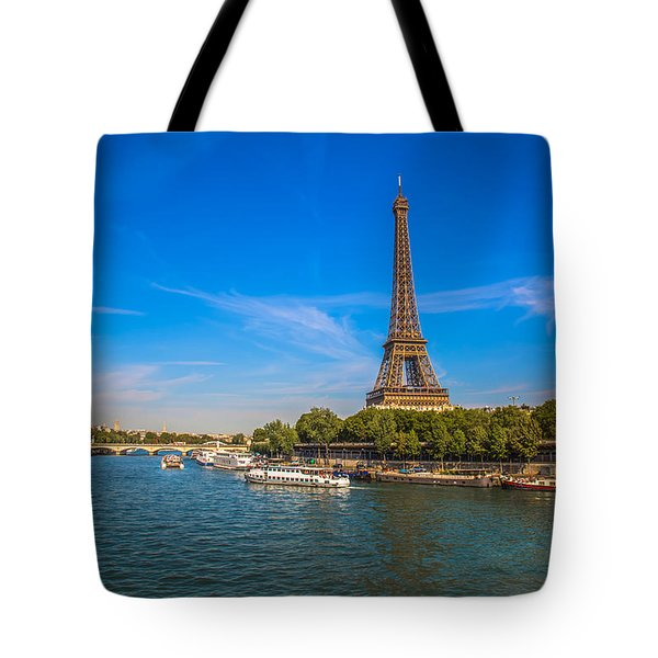 Scenic Eiffel Tower  Tote Bag