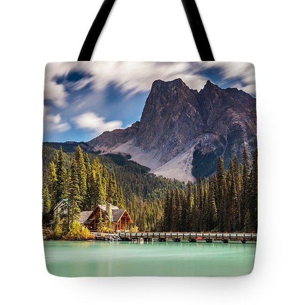 Scenic Emerald Lake  Tote Bag