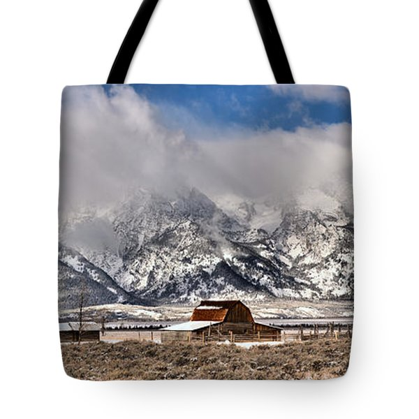 Tote Bag featuring the photograph Scenic Mormon Homestead by Adam Jewell