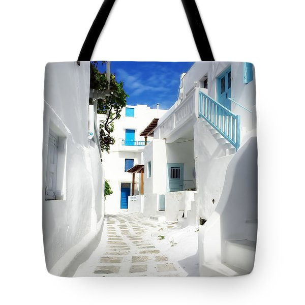 Scenic Mykonos Tote Bag by HD Connelly