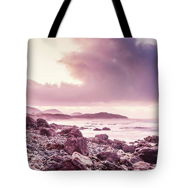 Scenic Seaside Sunrise Tote Bag