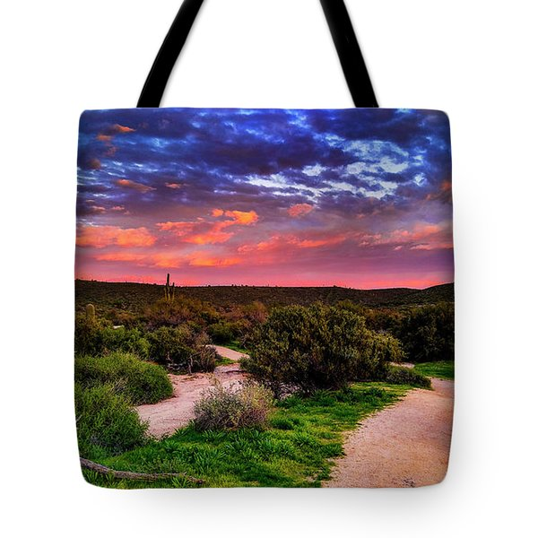 Tote Bag featuring the photograph Scenic Trailhead by Anthony Citro