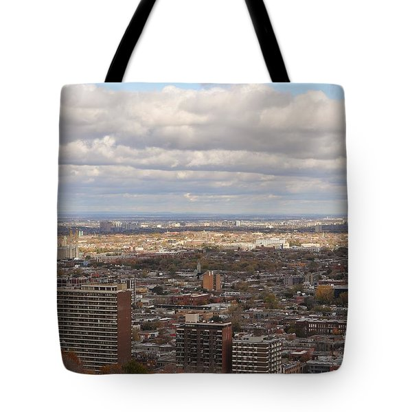 Scenic View Of Montreal Tote Bag