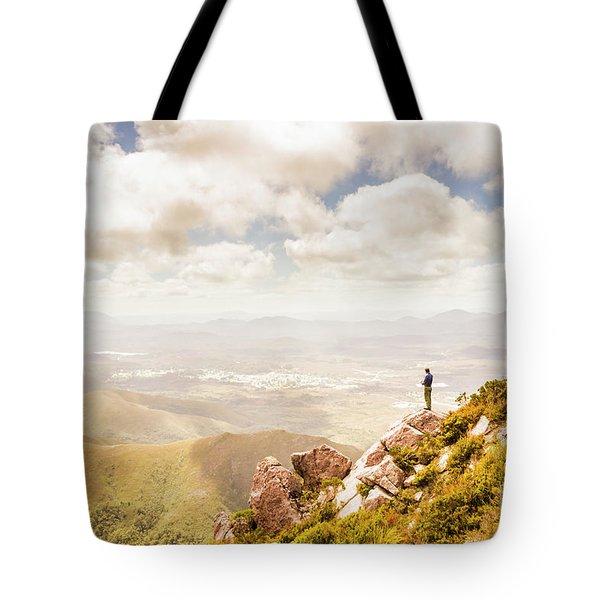 Scenic View Of Mt Zeehan, Tasmania, Australia Tote Bag
