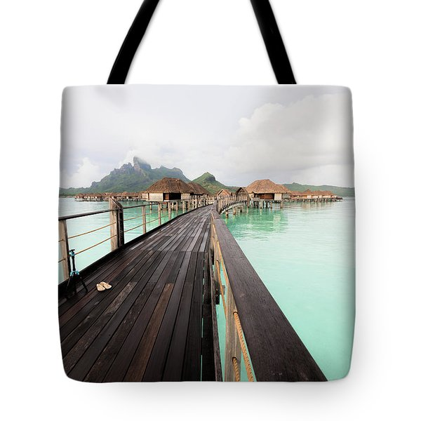 Scenic Walk To The Bungalow Tote Bag