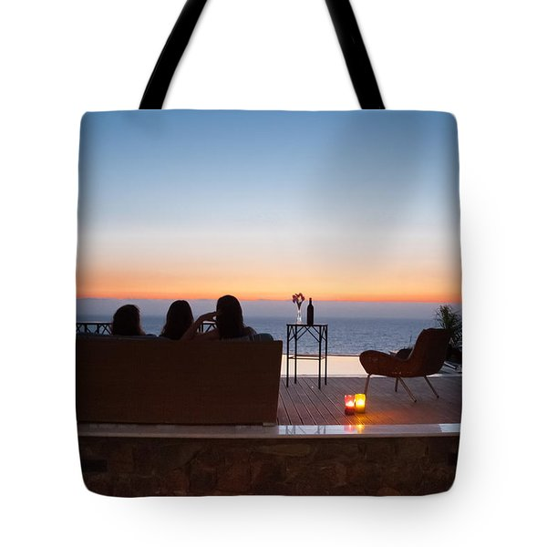Scerenity On Holiday Tote Bag