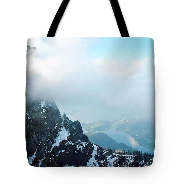 Schafberg Cliff Face Tote Bag