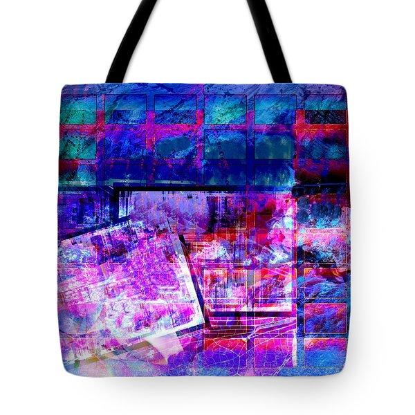 Tote Bag featuring the digital art Schedule by Art Di