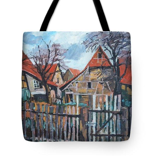 Scheunen Am Ortsrand Lienzingen Tote Bag by Martin Stankewitz