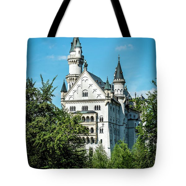 Tote Bag featuring the photograph Schloss Neuschwantstein by David Morefield