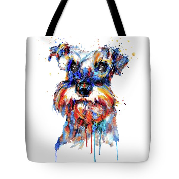 Schnauzer Head Tote Bag