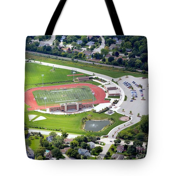 Tote Bag featuring the photograph Schneider Field by Bill Lang