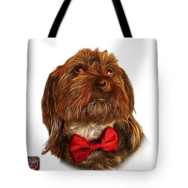 Tote Bag featuring the painting Schnoodle Pop Art - 3687 by James Ahn