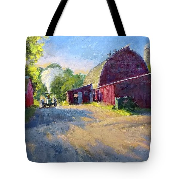 Schober's Barn At Sunset Tote Bag