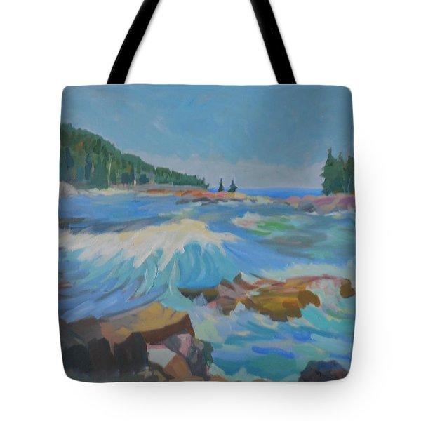Schoodic Inlet Tote Bag by Francine Frank