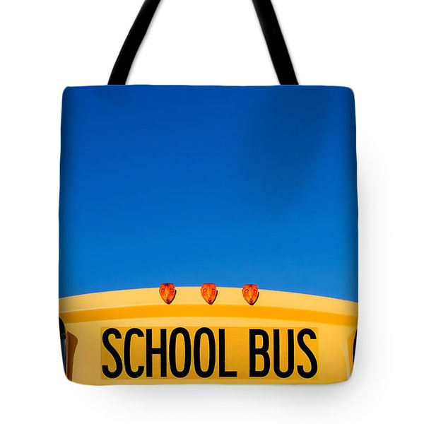 School Bus Top Tote Bag