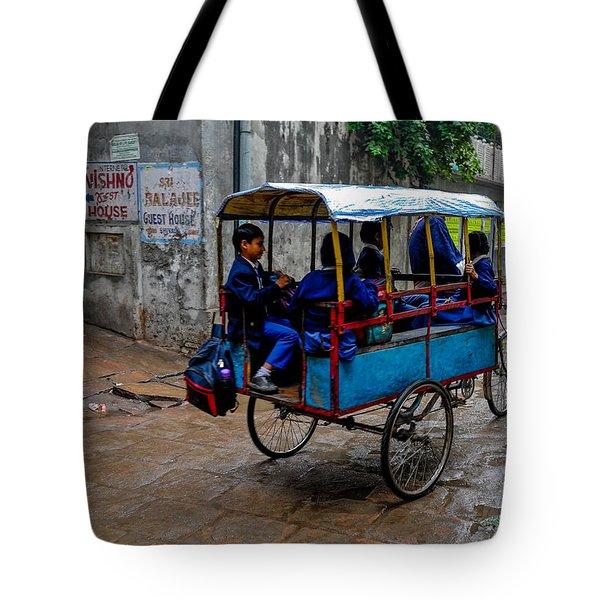 School Cart Tote Bag