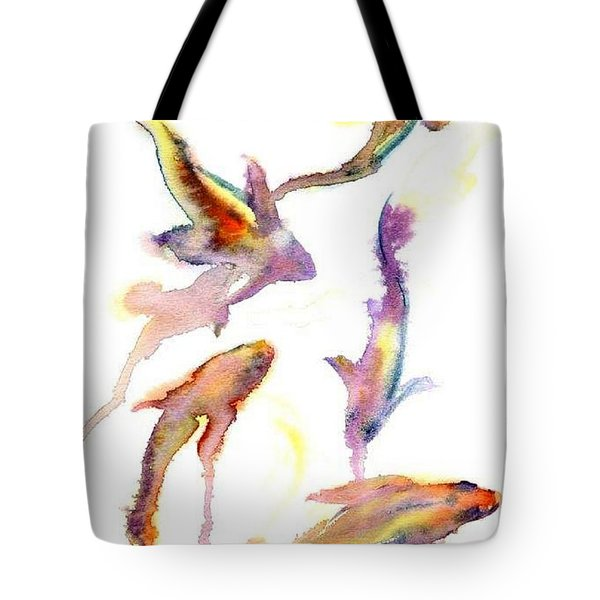 Tote Bag featuring the painting School En Plein Aire by Ashley Kujan