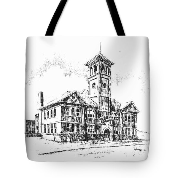 School Historic Philipsburg Montana Tote Bag by Kevin Heaney