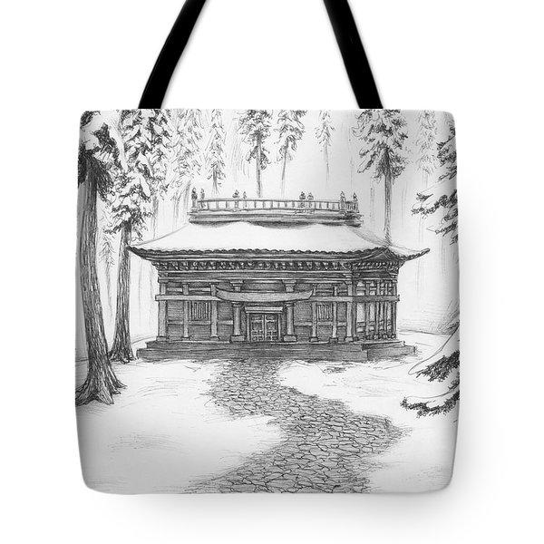 School In The Snow Tote Bag