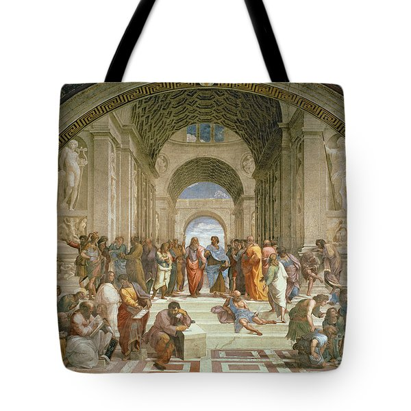 School Of Athens From The Stanza Della Segnatura Tote Bag