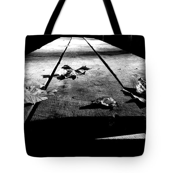 Schooled In Thought - Black And White Tote Bag
