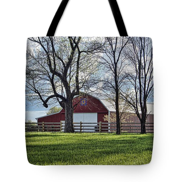 Tote Bag featuring the photograph Schooler Road Barn by Cricket Hackmann