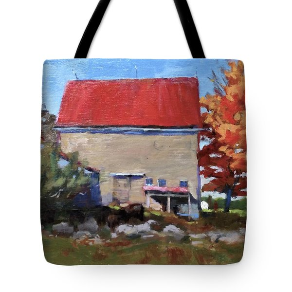 Schoolhouse Farm, Warren, Maine Tote Bag