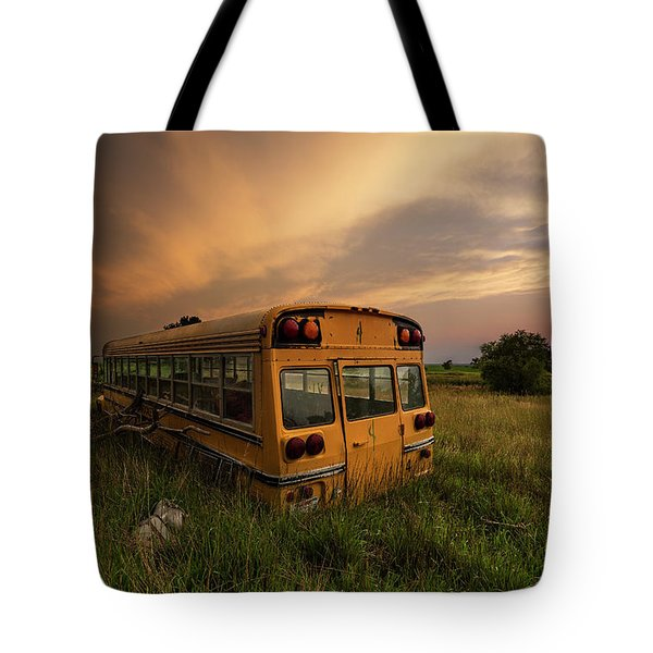 Tote Bag featuring the photograph School's Out  by Aaron J Groen