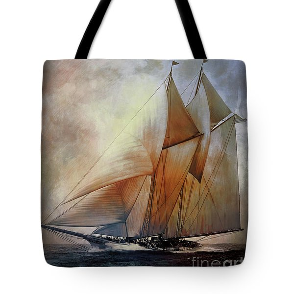 Schooner America In 1910.   Tote Bag