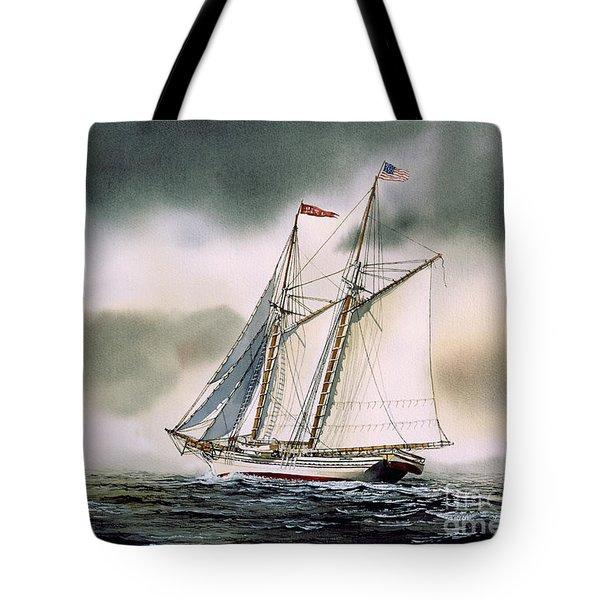 Schooner Heritage Tote Bag by James Williamson