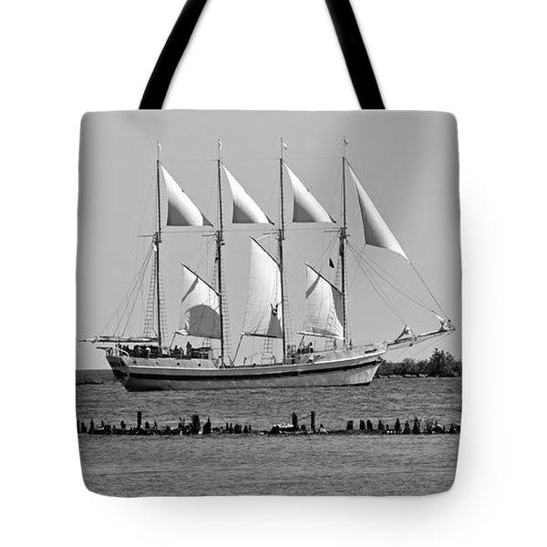 Schooner On Lake Michigan No. 1-1 Tote Bag
