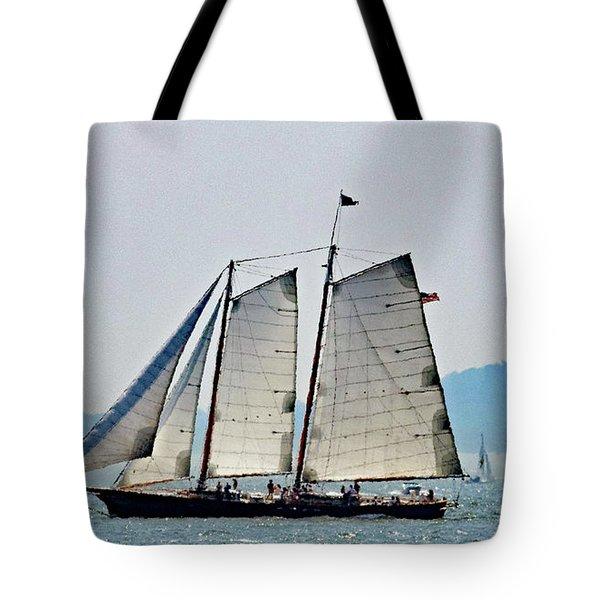 Schooner On New York Harbor No. 3 Tote Bag