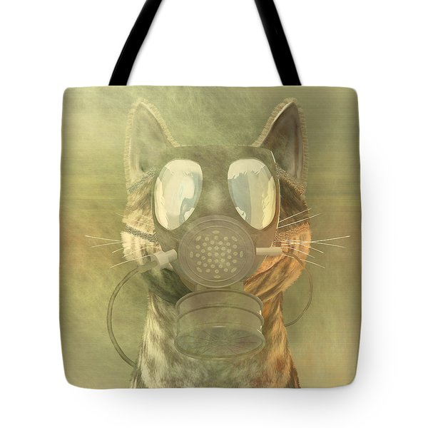 Schrodinger Underestimates The Cat. Tote Bag by Carol and Mike Werner