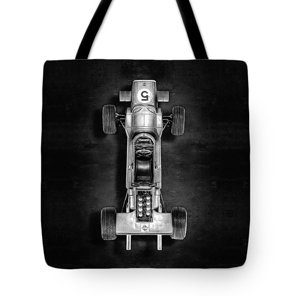 Tote Bag featuring the photograph Schuco Matra Ford Top Bw by YoPedro